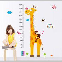 Muursticker Groeimeter Giraf (1)
