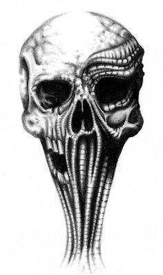 biomech skull by sylviusart.deviantart.com on @deviantART