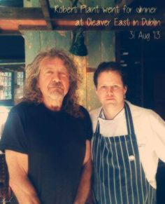 Robert Plant went for dinner at Cleaver East in Dublin on Aug. East Restaurant, Page And Plant, Robert Plant Led Zeppelin, Dream Man, Stairway To Heaven, Great Bands, Dublin, Cancer, Plants