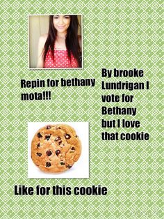 Repin for bethany mota like for this cookie by brooke Lundrigan I vote for bethany mota but that cookie looks so good