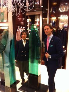 Oki Izumi and Silvio Calvigioni @Tombolini boutique during Milan Design Week