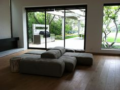 Extrasoft modular seating system by Piero Lissoni for Living Divani. In a clients home in the hollywood hills.