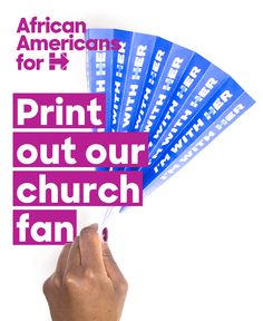 Another way to share your support for Hillary with fellow churchgoers? Print out our church fan—click this pin to download.