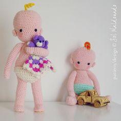 Amigurumi Baby crochet pattern Benjamin doll  babies