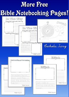 Free Bible notebooking pages- Jonah, Elijah, and more!