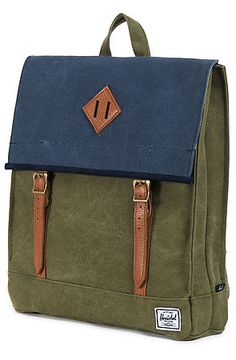 Herschel Supply   The Survey Backpack in Washed Navy & Army Canvas