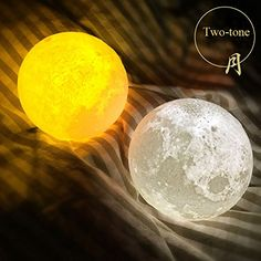 Amazon.com: Huluwa Night Light PLDM 3D Printing Moon Lamp Lunar USB  Charging Night
