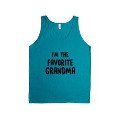 I'm The Favorite Grandma Mother Mothers Grandmother Grandparents Children Kids Parent Parents Parenting Unisex T Shirt SGAL4 Men's Tank