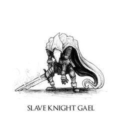 Dark Souls III - Slave Knight Gael by Skinrarb on DeviantArt Dark Souls 3, Demon's Souls, Soul Saga, Old Monk, Bloodborne Art, Soul Tattoo, Angel Drawing, O Gas, Monsters