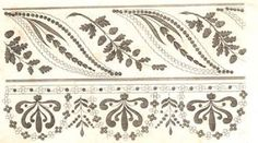 Regency Fan: Lady's Magazine 1816-1818 - Embroidery Patterns