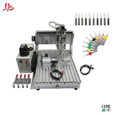 800W water cooling cnc 3040 router cutting machine mach3 control ball screw engraver. Yesterday's price: US $1200.00 (1077.24 EUR). Today's price (February 21, 2019): US $708.00 (633.81 EUR). Discount: 41%. #Woodworking #Machinery #cooling #engraver Water Cooling, Woodworking Machinery, Cnc, February, Cool Stuff, Cool Things