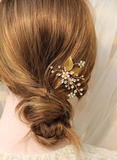 Bridal comb Wedding Accessory Bridal Headpiece by MonaAccessory
