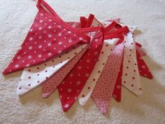 Nordic style red and white Christmas bunting £6.00