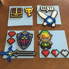 Legend of Zelda perler beads by owletplugs