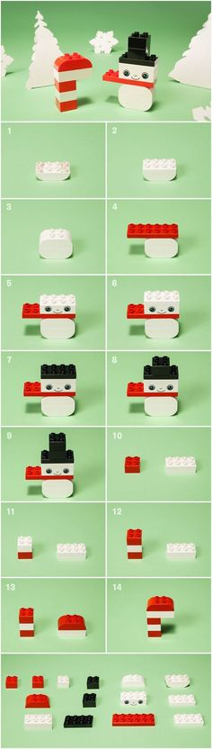 While your little one eagerly waits for those first fluttery flakes to fall, have them build their very own LEGO DUPLO DIY snowman. (snowman crafts for school) Lego Activities, Christmas Activities, Lego Therapy, Lego Advent, Lego Challenge, Lego Boards, Lego Club, Lego Christmas, Lego Craft