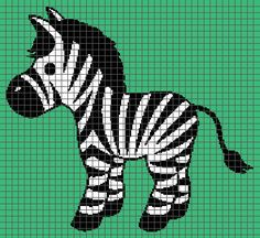 Zebra Graphghan Pattern With Graph and Written door BynumPatterns
