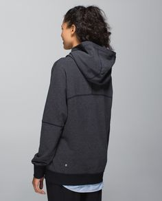 "We designed this soft pullover to keep our post-class cozy close when we step from the studio into the street. Made of naturally breathable fabric with a loose fit, this top layers easily over our practice clothes so we're ready to roam. When we say ""slip into something more comfortable,"" this is what we mean."
