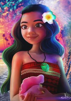As my obsession with Disney couldn´t just be watching this movie more than 3 times, I decided to capture my love for Moana Soon I& do a video showing the process ^^ Disney Princess Art, Disney Nerd, Arte Disney, Disney Fan Art, Disney Love, Disney Magic, Disney Parks, Disney And Dreamworks, Disney Pixar