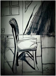 CHAIR by Caranguexo, 2014, crayon on paper A2