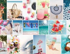 Planche_tendance_ete_2016-05 Mood Boards, Summer Time, Table Decorations, Spring, Inspiration, Vacation, Daylight Savings Time, Biblical Inspiration, Summer