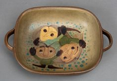 dybdahl dish face pattern ornament danish studio by northvintage, $109.00