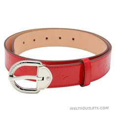 http://www.perfectany.com/index.php?tracking=51bfc91e1b952  Stylish Louis Vuitton Womens Red Embossing Leather Golden Prong Closure Belt