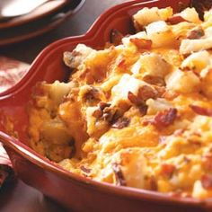 Baked Potato Casserole. This casserole is the BOMB!!! A must try!! It's got lots of cheese, bacon and potatoes how could you go wrong?