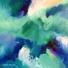 Aquarius by David Kessler Acrylic ~ 24 x 24. Art. Abstract Art.