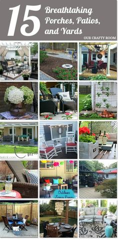 15 breathtaking porches, patios and yards to inspire your outdoor space! http://www.hometalk.com/l/KZ3