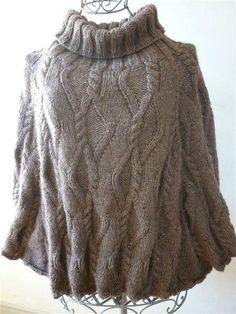 beau patron gratuit tricot poncho femme