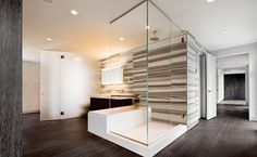 luxury bathroom interior sleek design