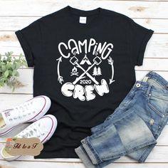Camp Shirts, Fishing Shirts, Kids Shirts, Tee Shirts, Camping Signs, Camping Humor, Camping Theme, Family Vacation Shirts, Family Tees