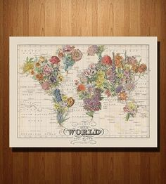 Bouquet Map Print by ImagineNations on Scoutmob Shoppe