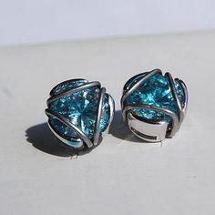 Iron Man arc reactor earrings by TwinsGeekShop on Etsy
