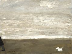 Gary Bunt  A Walk by The Sea - Oil on canvas I just can't keep up When we walk by the sea I'm not as fit as I used to be