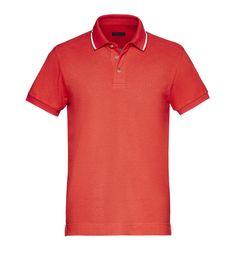 a45faeeac081 ZZEGNA  Polo Manches Courtes Piqué Col polo Logo Bas avec fentes lat Rouge  37830567LG