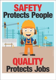 "A safety poster visualizing a safety slogan : ""Safety protects people. Science Safety Posters, Fire Safety Poster, Health And Safety Poster, Fire Safety Tips, Workplace Bullying, Workplace Safety, Safety Pictures, Safety Slogans, Safety Management System"
