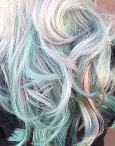 Image Credit: Ross Michael Salon - Opal hair is a combination of pearlescent pinks, purples and blues. It's the ultimate mix of metallics and pastels. Opal Hair, Unicorn Hair, Dye My Hair, Pastel Hair, Rainbow Hair, Blue Hair, Grey Hair, Pretty Hairstyles, Easy Hairstyles