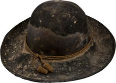 Slouch hat belonging to a Confederate officer KIA at Sharpsburg