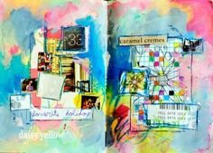 Fun #artjournaling ideas from Tammy Garcia of Daisy Yellow