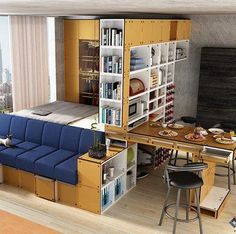 *** 'Trundle dining table'...10 Transforming Furniture Designs Perfect for Tiny Apartments