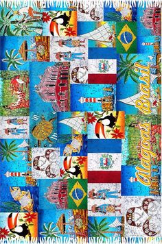 Alagoas Patchwork Fringe Fashion, Beach Towel, Quilts, Blanket, Design, Scrappy Quilts, Quilt Sets, Quilt, Rug