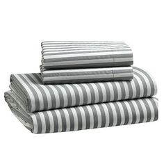 Striped sheets from west elm. i'll put stripes anywhere i can
