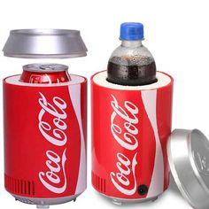 Mini refrigerador del usb del refrigerador refrigerador de Doble uso de Calor y frío oficina de inicio dormitorio DC 5 V 12 V coche equipo refrigerador de vino refrigerador