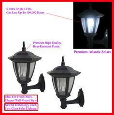 * 2 PACK Solar Wall Mounted Lamp Light Outdoor Spot Floodlight FREE SHIPPING $39.97