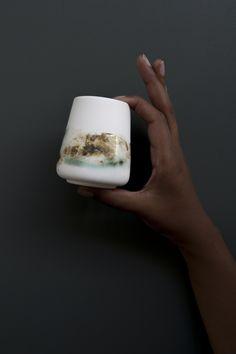 OPGEROLD mini cup by Studio Ineke van der Werff www.inekevanderwerff.nl