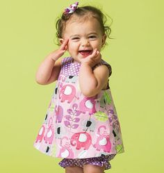 M6912 | Infants' Reversible Top, Dresses; Bloomers and Pants | Infants/Toddlers | McCall's Patterns
