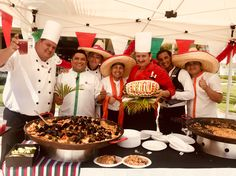 #itsRIUtimeinmexico Poolside Paella buffet at Riu Playacar - All Inclusive hotel in Playa del Carmen, México.