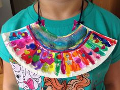 Egyptian Collar Jewelry Craft - Kindergarten Craft - History Craft - Kids Craft