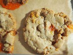 Candy Corn Cornflake Cookies